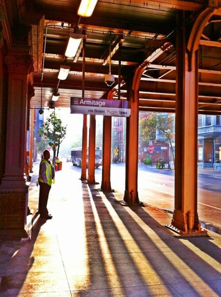 Photograph - Chicago Morning @ The Brown Line Armitage by Eleanor Abramson