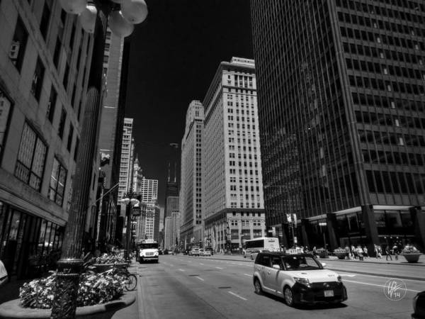 Photograph - Chicago - N Michigan Ave 001 by Lance Vaughn