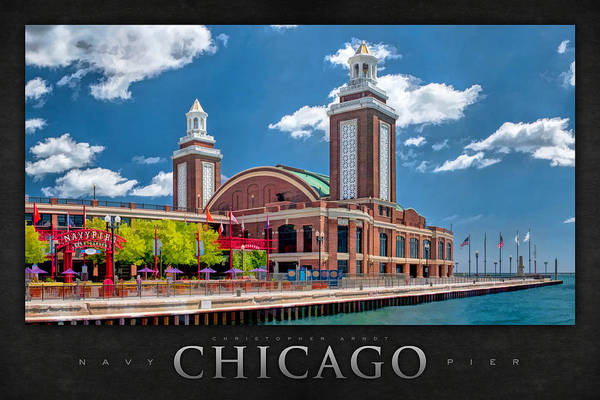 Painting - Chicago Navy Pier Poster by Christopher Arndt