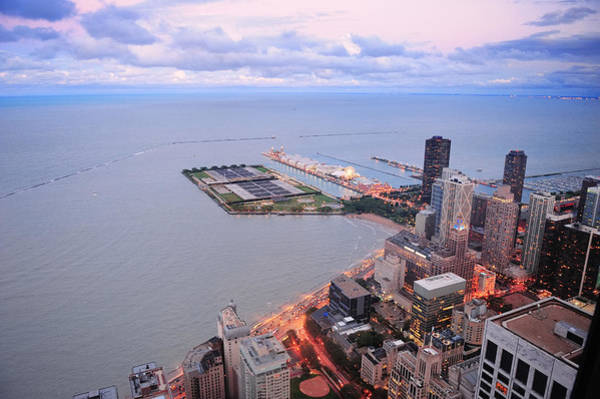 Photograph - Chicago Navy Pier by Songquan Deng