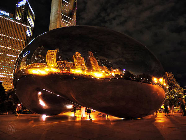 Photograph - Chicago Night At Cloud Gate 001 by Lance Vaughn