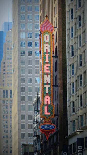 Photograph - Chicago Oriental by Anita Burgermeister