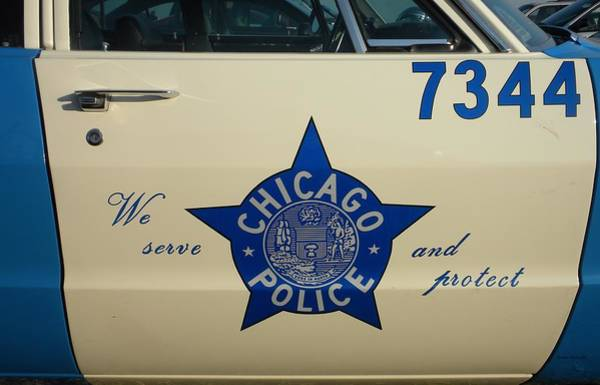 Wall Art - Photograph - Chicago Pd Squad Car Door by Thomas Woolworth