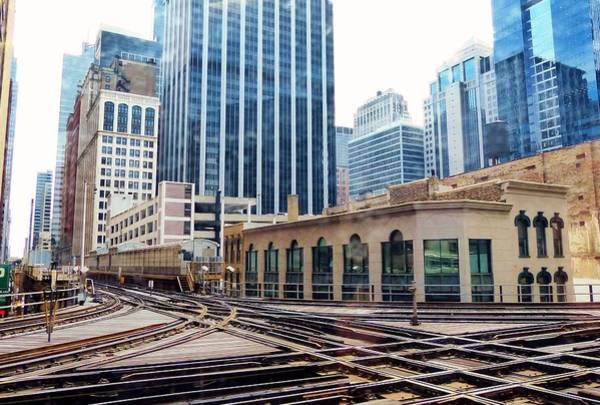 Photograph - Chicago Rails by Rosanne Licciardi