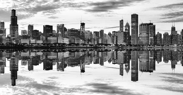 Wall Art - Photograph - Chicago Reflection Panorama by Donald Schwartz