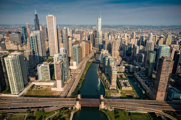 Linked Photograph - Chicago River Aloft by Steve Gadomski