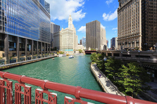 Chicago Photograph - Chicago River, Chicago by Fraser Hall