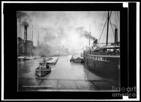 Photograph - Chicago River by Russell Brown