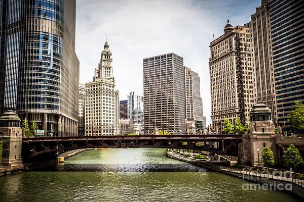 Wabash Avenue Wall Art - Photograph - Chicago River Skyline At Wabash Avenue Bridge by Paul Velgos