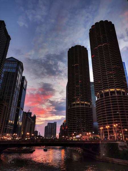 Photograph - Chicago River Sunset 003 by Lance Vaughn