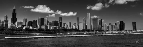 Photograph - Chicago Skyline 001 Bw by Lance Vaughn