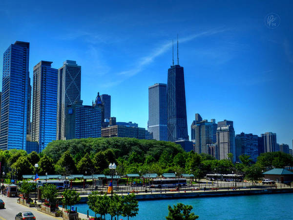 Photograph - Chicago Skyline 002 by Lance Vaughn