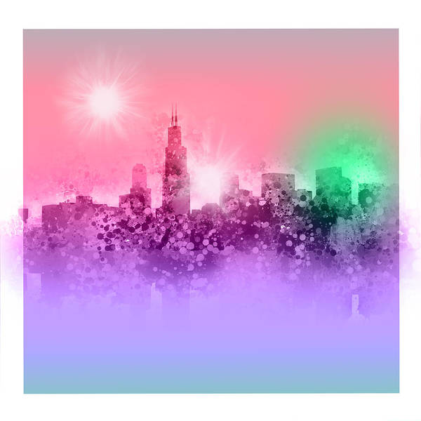 Chicago Skyline Abstract 3 Art Print