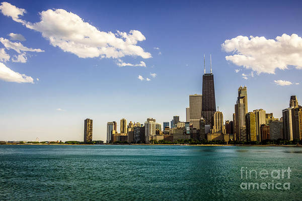 Chicago Skyline And Chicago Lakefront Art Print