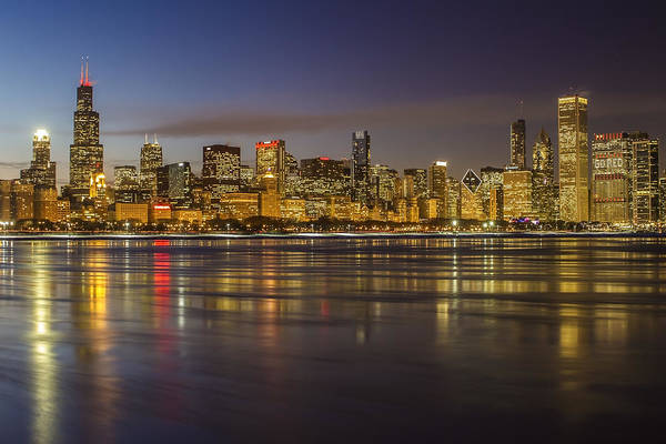 Photograph - Chicago Skyline And Reflections by Sven Brogren