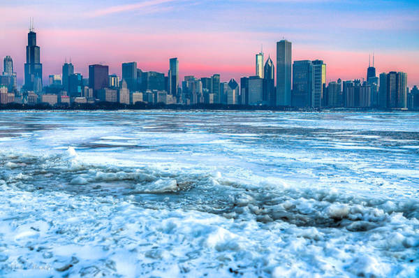 Photograph - Chicago Skyline At Dawn - Lake Michigan 3-9-14 by Michael  Bennett