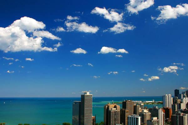 Chicago Skyline Big Sky Lake Art Print
