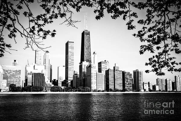 Chicago Black White Wall Art - Photograph - Chicago Skyline Black And White Picture by Paul Velgos