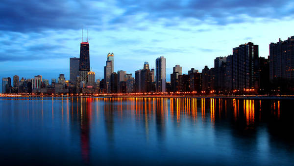 Chicago Skyline Dusk Art Print