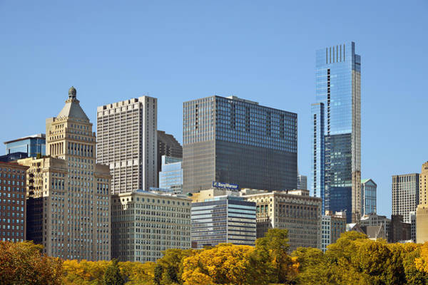 Wall Art - Photograph - Chicago Skyline From Millenium Park II by Christine Till