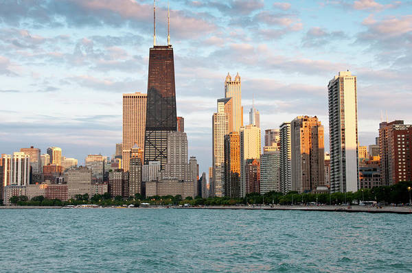 Alan Photograph - Chicago Skyline From North Avenue Beach by Alan Klehr