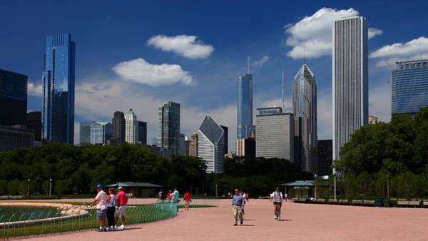 Photograph - Chicago Skyline Grant Park by Patrick Malon