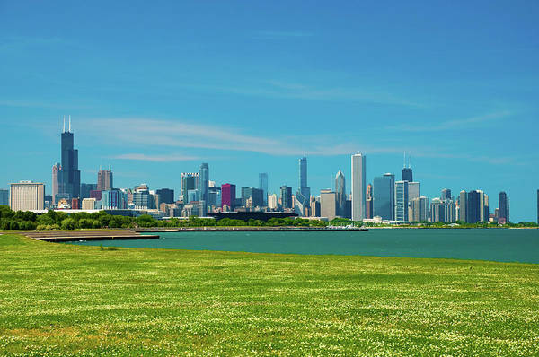 Lake Photograph - Chicago Skyline, Lake Michigan, And by Davel5957
