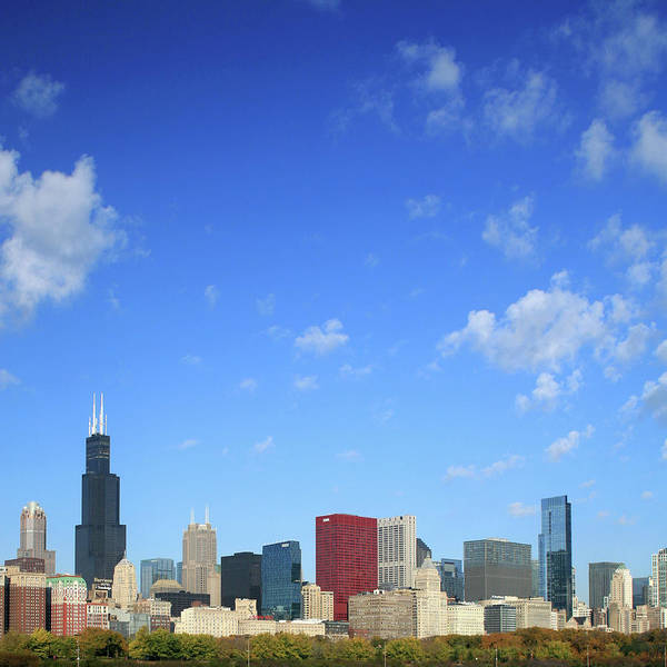 Square Mile Wall Art - Photograph - Chicago Skyline, Michigan Avenue And by Hisham Ibrahim