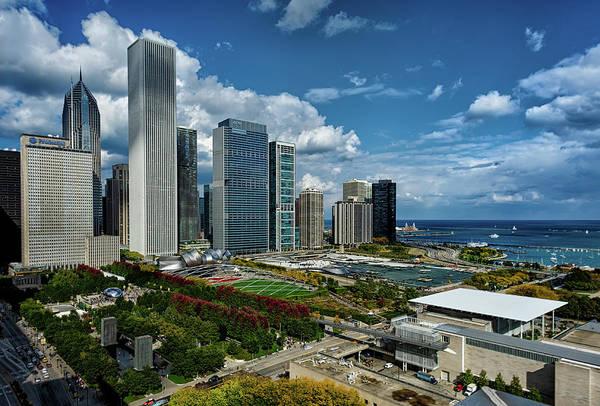 Millennium Park Photograph - Chicago Skyline by Milosh Kosanovich - Precision Digital Photography