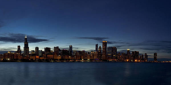 Chicago Skyline Art Photograph - Chicago Skyline Panorama by Andrew Soundarajan