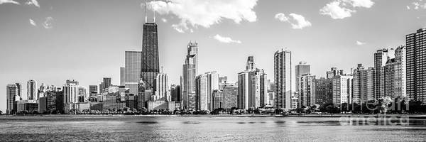 Chicago Skyline Panoramic Picture Of Gold Coast Art Print