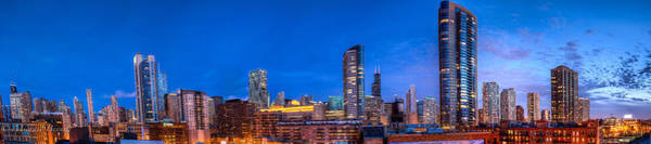 Photograph - Chicago Skyline Photography - Blue Hour Cityscape by Michael  Bennett