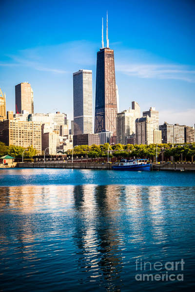 Chicago Skyline Picture With Hancock Building Art Print