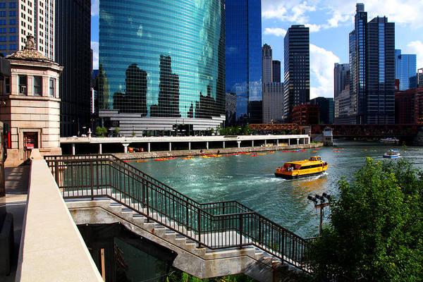 Chicago Skyline River Boat Art Print
