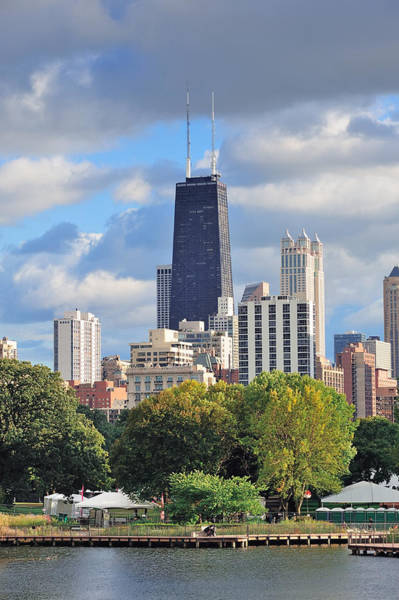Photograph - Chicago Skyline by Songquan Deng
