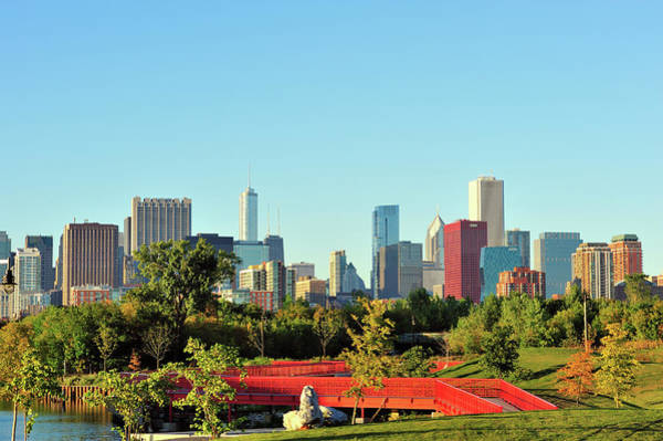 Millennium Park Photograph - Chicago Skyline View by Bruce Leighty