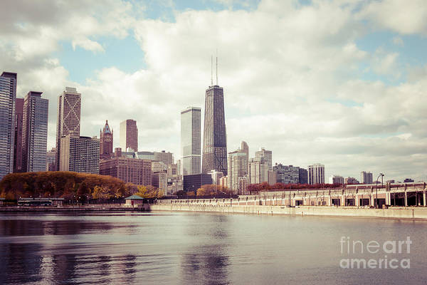 Chicago Skyline Art Photograph - Chicago Skyline Vintage Picture by Paul Velgos