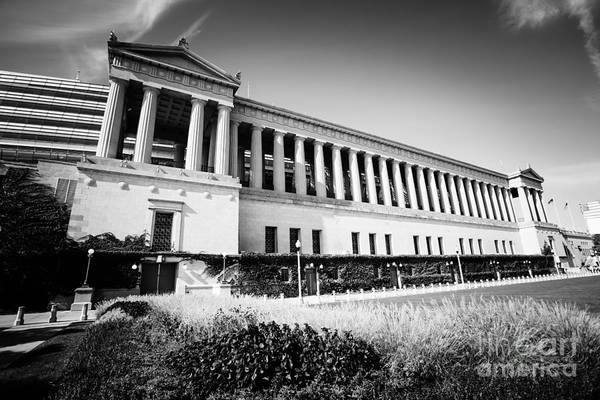 Soldier Field Photograph - Chicago Solider Field Black And White Picture by Paul Velgos