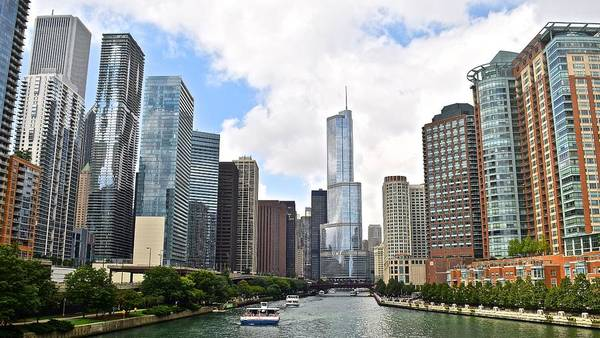 Oprah Wall Art - Photograph - Chicago The Windy City by Frozen in Time Fine Art Photography