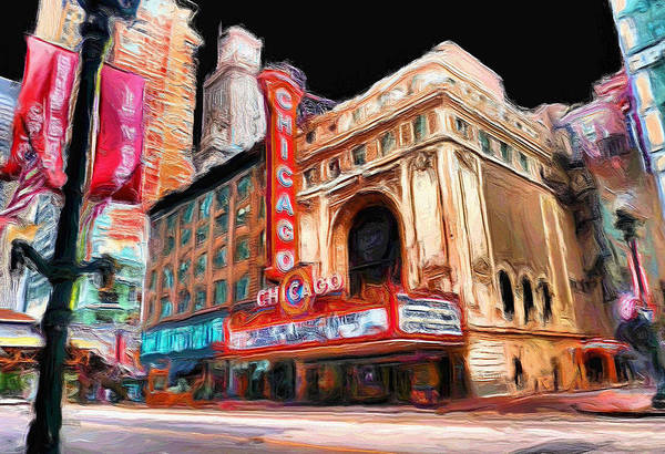 Ely Wall Art - Painting - Chicago Theater - 23 by Ely Arsha