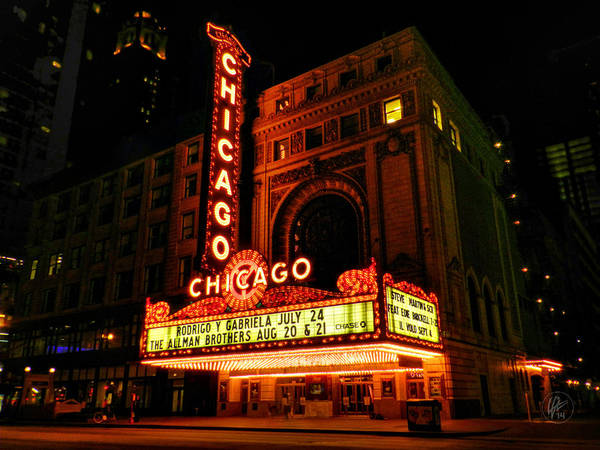 Photograph - Chicago Theatre 001 by Lance Vaughn