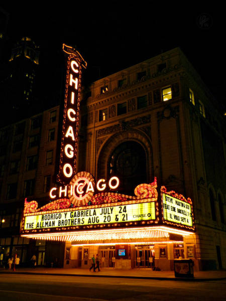 Photograph - Chicago Theatre 002 by Lance Vaughn