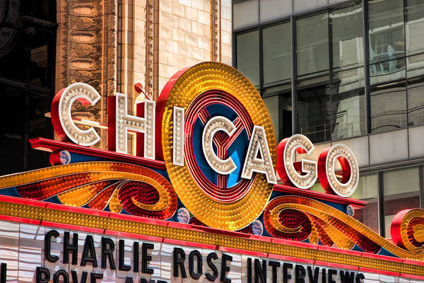 Painting - Chicago Theatre Marquee by Christopher Arndt