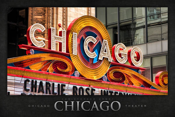 Painting - Chicago Theatre Marquee Poster by Christopher Arndt