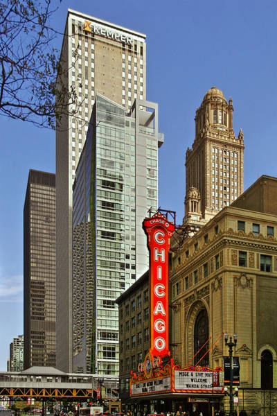 Photograph - Chicago Theatre - This Theater Exudes Class by Christine Till