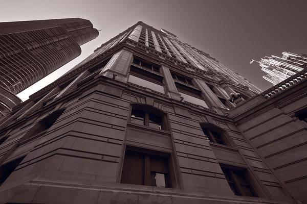 Chicago Tribune Wall Art - Photograph - Chicago Towers Bw by Steve Gadomski