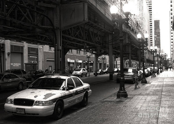 Photograph - Chicago Train Loop by Gregory Dyer