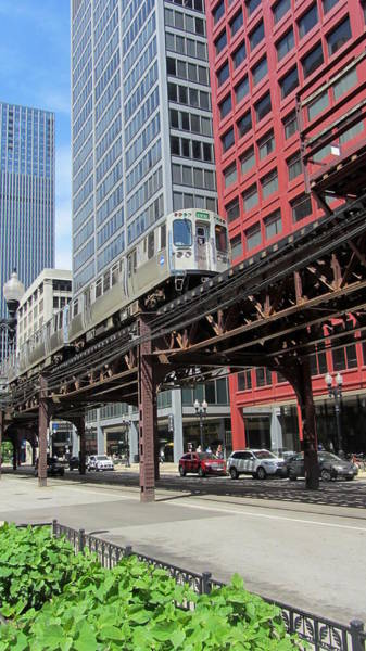 Photograph - Chicago Train On The L Track by Anita Burgermeister