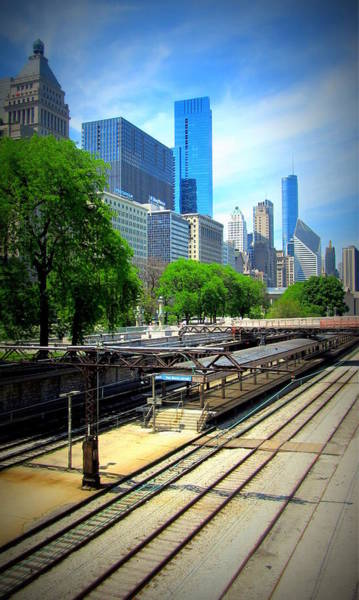 Photograph - Chicago Train Tracks by Anita Burgermeister