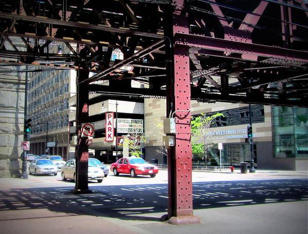 Photograph - Chicago Under The L Track 2 by Anita Burgermeister